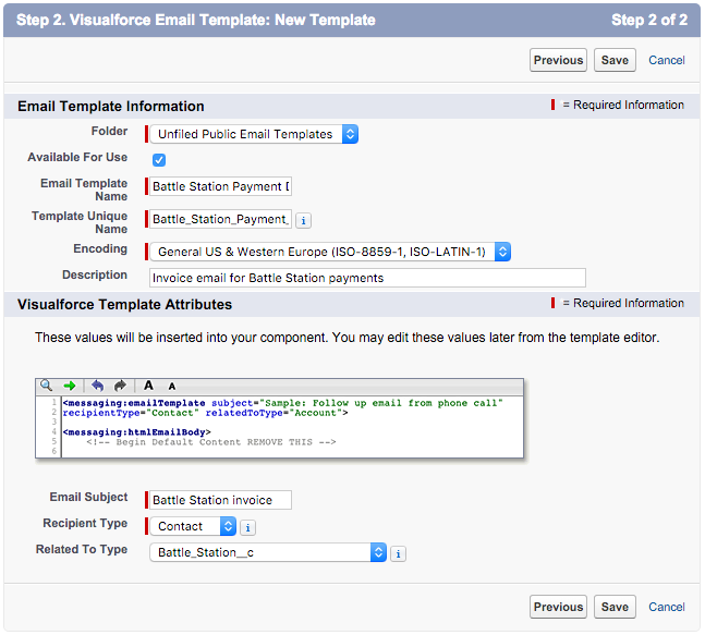 Visualforce Email Template